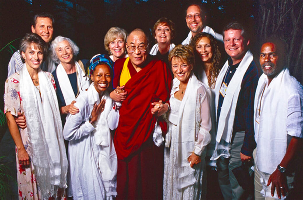 Mary with His Holiness The Dalai Lama